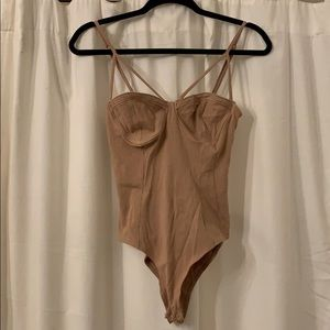 Nude Ribbed Bodysuit
